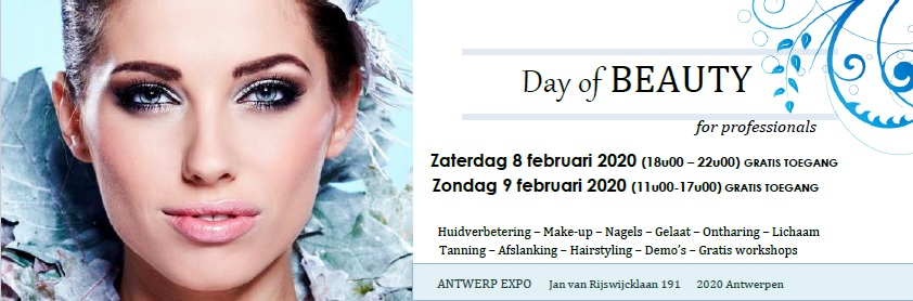 Day of Beauty 8 en 9 februari a.s. in Antwerpen